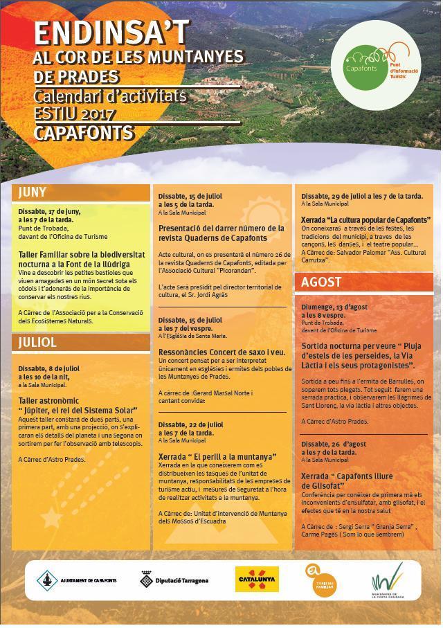 Capafonts presenta su calendario de actividades de verano