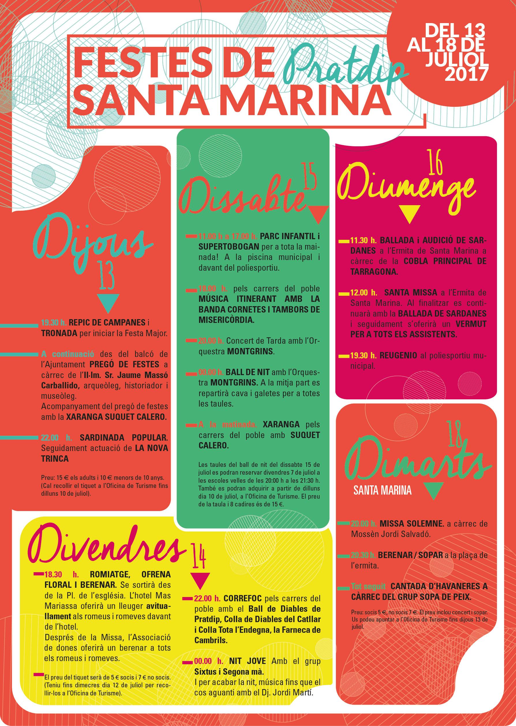 Fiestas de Santa Marina en Pratdip